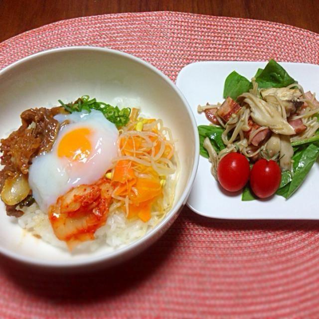 ちゃちゃっと晩ご飯♪ - 7件のもぐもぐ - 簡単ビビンバ丼 by takako1251