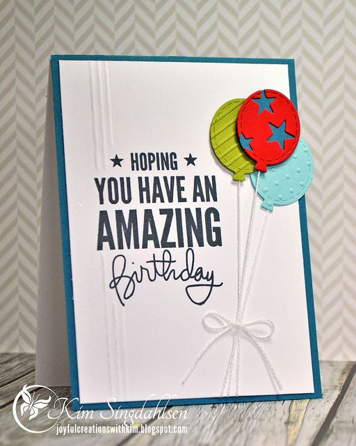 108 best birthday cards images on pinterest anniversary cards amazing birthday from joyful creations with kim stamps by simon says stamp balloon dies bookmarktalkfo Choice Image