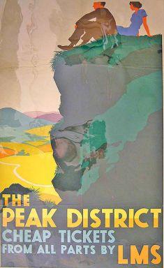 london midland & scottish railway poster the peak district
