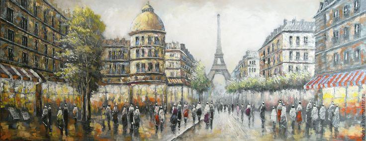 Купить или заказать эйфелева башня в интернет-магазине на Ярмарке Мастеров. картина написана мастихином и кистью.выполнена на холсте.