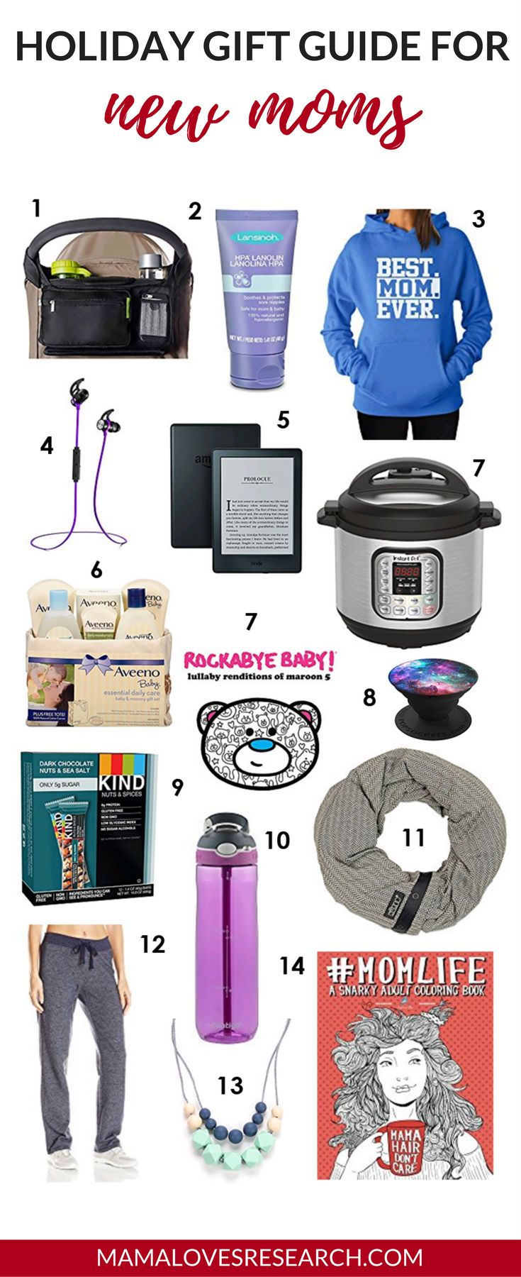 Holiday Gift Guide for New Moms - Mama Loves Research