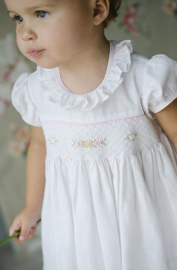 classic children's clothing, european children's clothing, luxury children's clothing, little english, little english clothing, smocked dress, luxury smocked dress, high-end smocking company, high-end smocked dress, easter dress, spanish linen dress