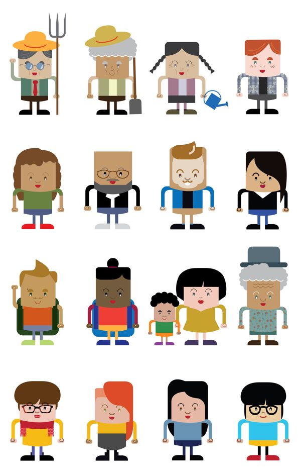 Goofy characters by Anna Maggi, via Behance
