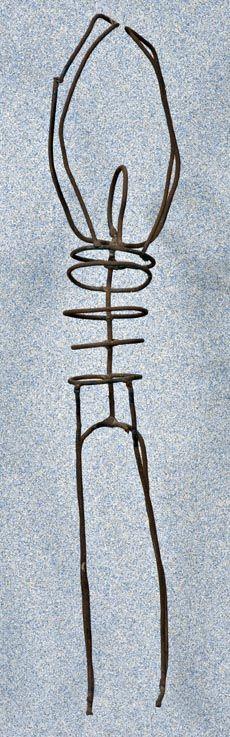Luigi Varoli/Figura/ferro/alt. 30 cm