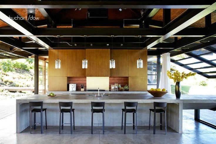 floor/concrete kitchen