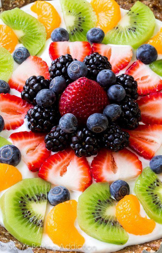 Greek Yogurt Fruit Tart - Gluten free and ready in less than 30 minutes!