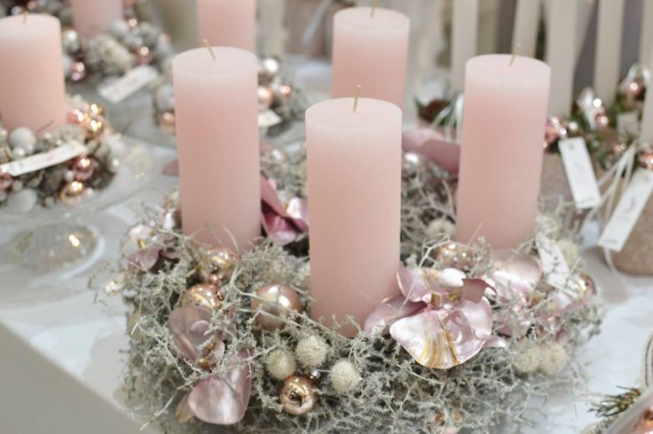 Blumenfenster Dachau | Candle arrangement | Pink |