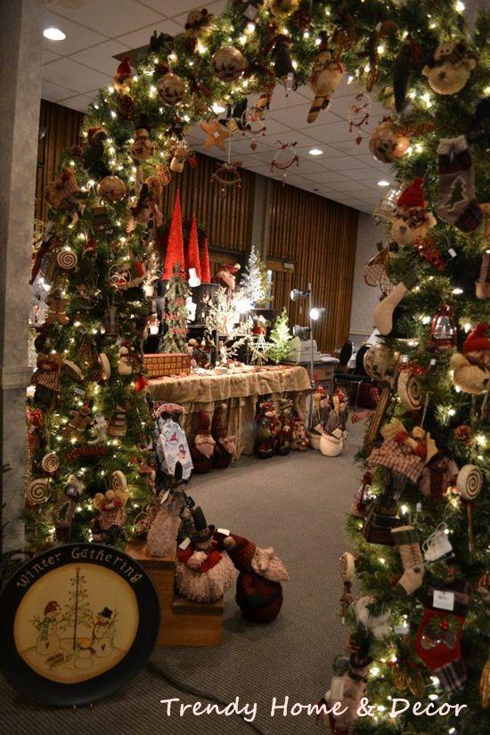 Christmas Craft Booth Display Idea Cute Entrance Idea To