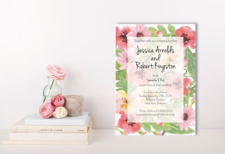 A personal favourite from my Etsy shop https://www.etsy.com/au/listing/259671161/wildflower-garden-invitations