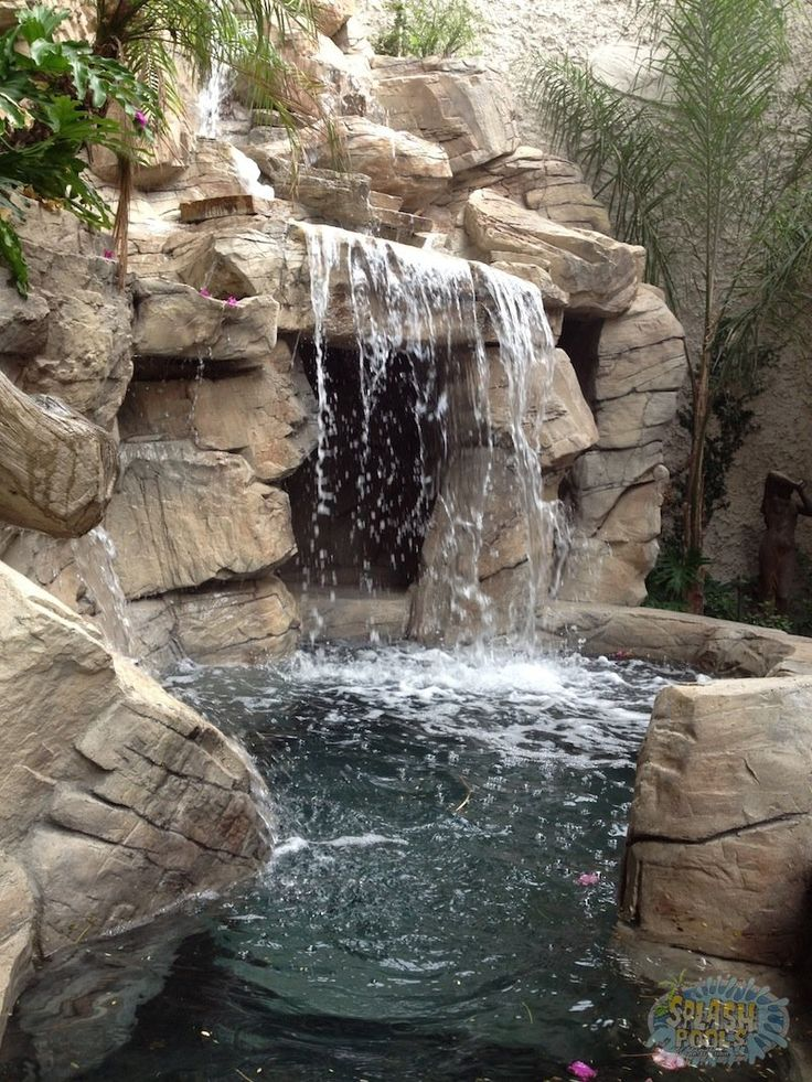 Waterfall Design Ideas a final look at the waterfall showing the way the water rolls down multiple rock Landscaping Amazing Rock Waterfalls With Swimming Pool Design Ideas In Home Backyard Stunning Backyard Waterfalls Design Ideas