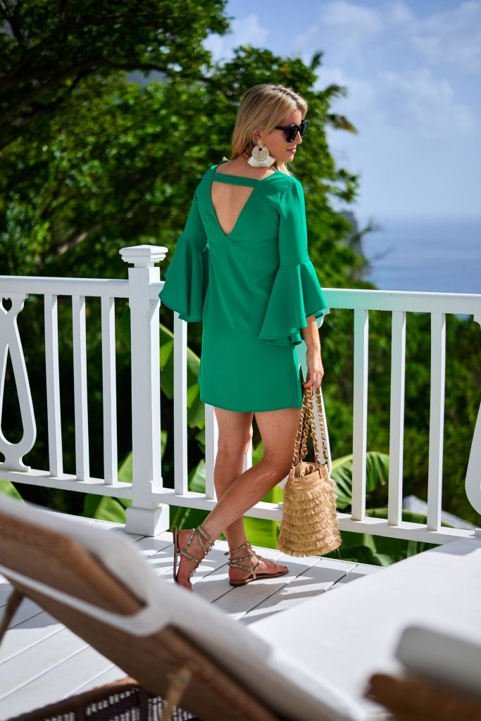 87915b2395e5 I wore this bright green summer dress in St. Lucia on my vacation and  thought it was so fun! While there are tons of options out there