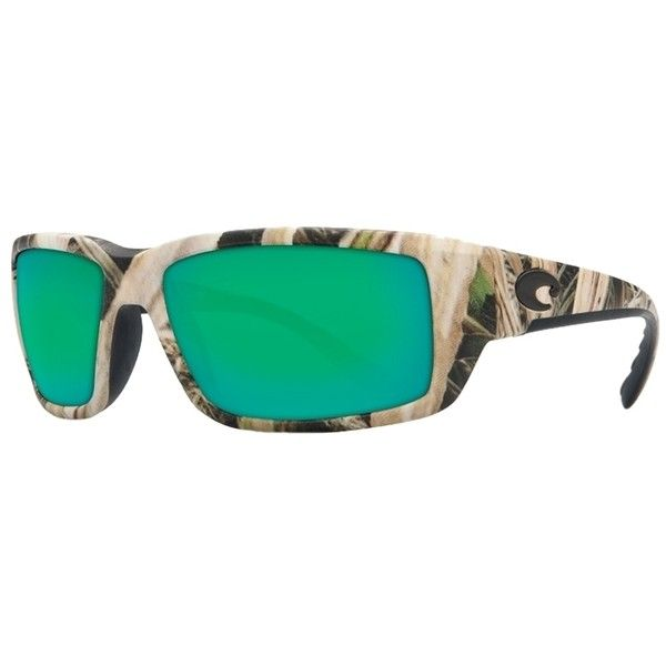 Pre-owned Costa Del Mar Fantail Grass Blades Camo/green Lens Tf65ogmp... ($159) ❤ liked on Polyvore featuring accessories, eyewear, sunglasses, grass blades camo, camouflage sunglasses, green lens sunglasses, costa sunglasses, camo glasses and camo sunglasses