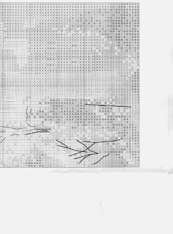 Schema punto croce Castello Neuschwanstein 05