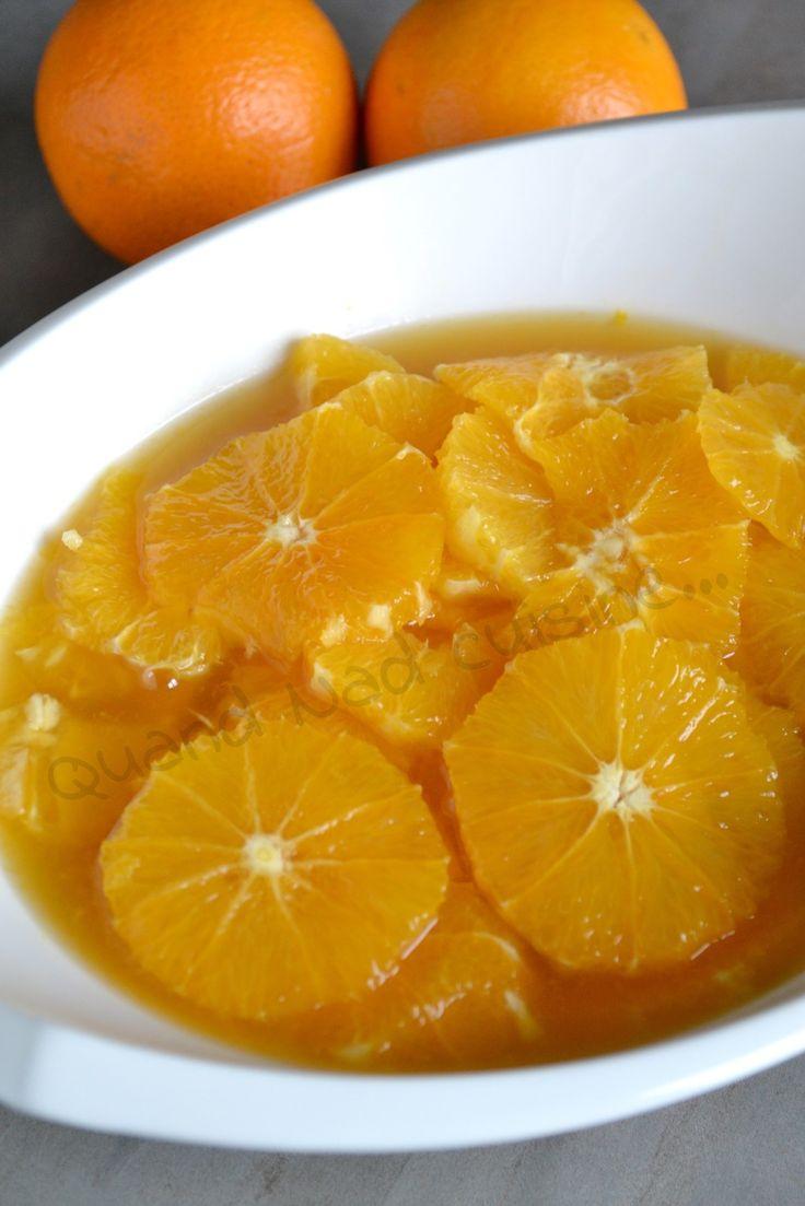 Salade d'oranges au thé à la menthe