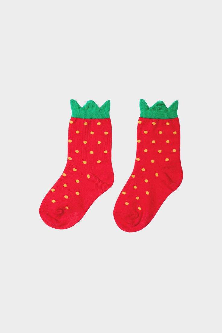 Mini Strawberry Baby Socks