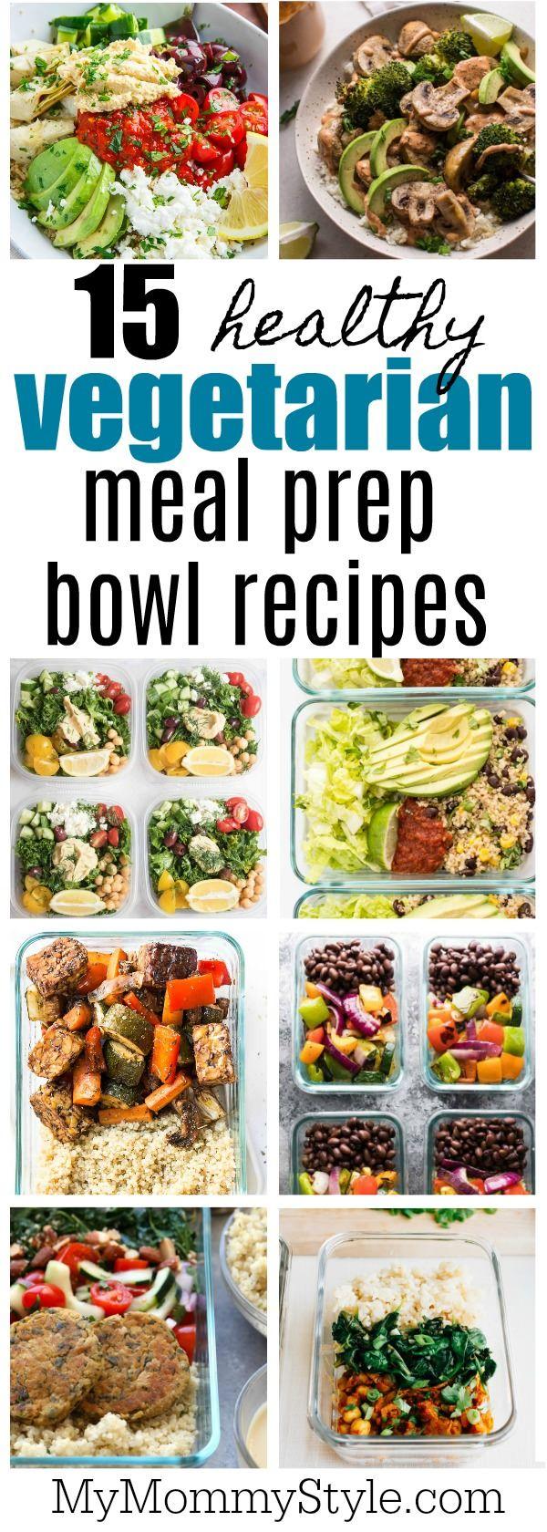 15 healthy vegetarian meal prep bowls