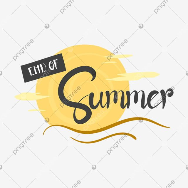 Hand Drawn End Of Summer Season Letter With The Sun Background Sun Background Season Png And Vector With Transparent Background For Free Download In 2021 Summer Sale Poster Lettering Sun Background