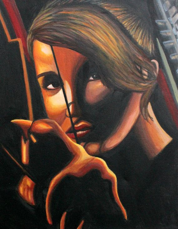 Katniss Everdeen Hunger Games Painting for sale on etsy.
