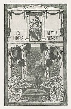Bookplate by Heinrich Johann Vogeler for Berth Bienert, 1902