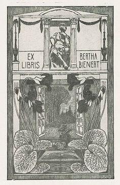 Bookplate by Heinrich Johann Vogeler for Berth Bienert, 1902