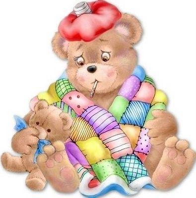 les méli-mélo de mamietitine ill bear sick get well