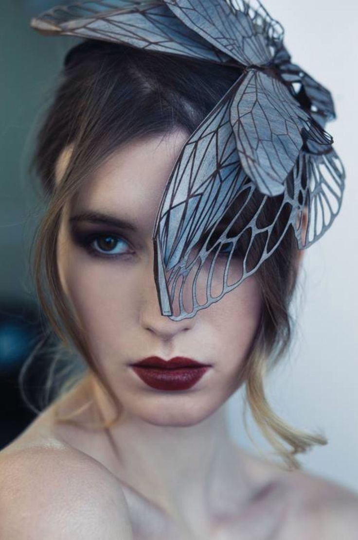 The designer that i found for this Moth hat is Emma Yeo. I chose this hat as i am engaged by all of the details of the moth to create this hat, i love how the wing just gracefully falls over her eye however she can still see as there is wholes in the wing.