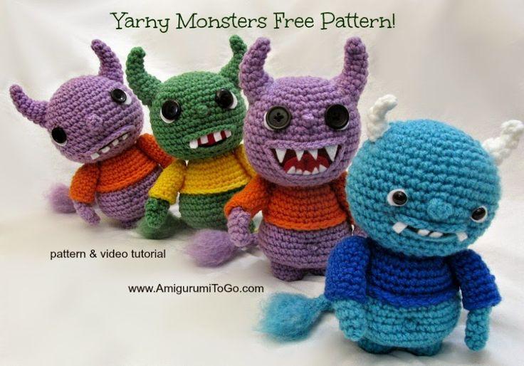 Passions Ephémères: Yarny Monsters - Tuto gratuit et en français
