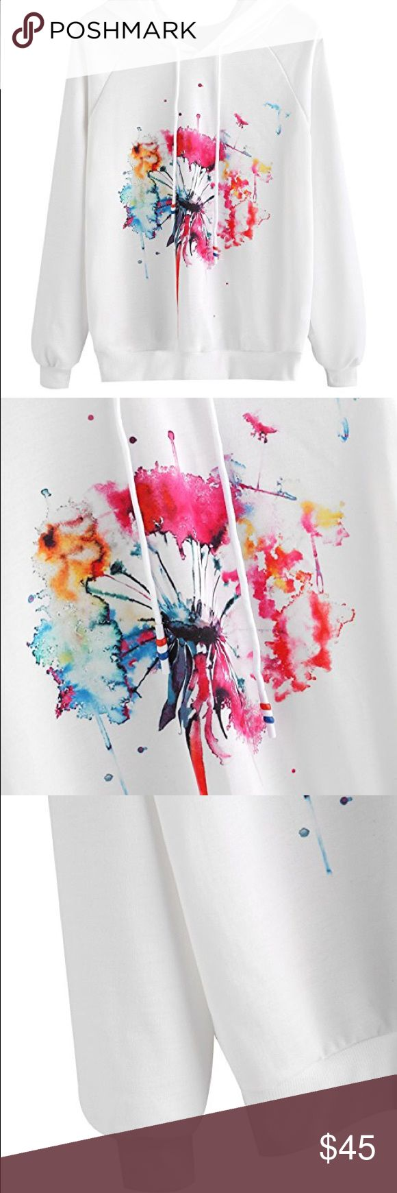 Splatter paint hoodie Brand new w tags, boutique neon splatter paint graphic lightweight hooded sweatshirt. Available sizes are: small, med, large, and xlarge. 100% cotton. Please refer to size chart for questions about sizing.  POSH RULES ONLY NO PP NO TRADES NO LOWBALL OFFERS  HAPPY POSHING! boutique Tops Sweatshirts & Hoodies