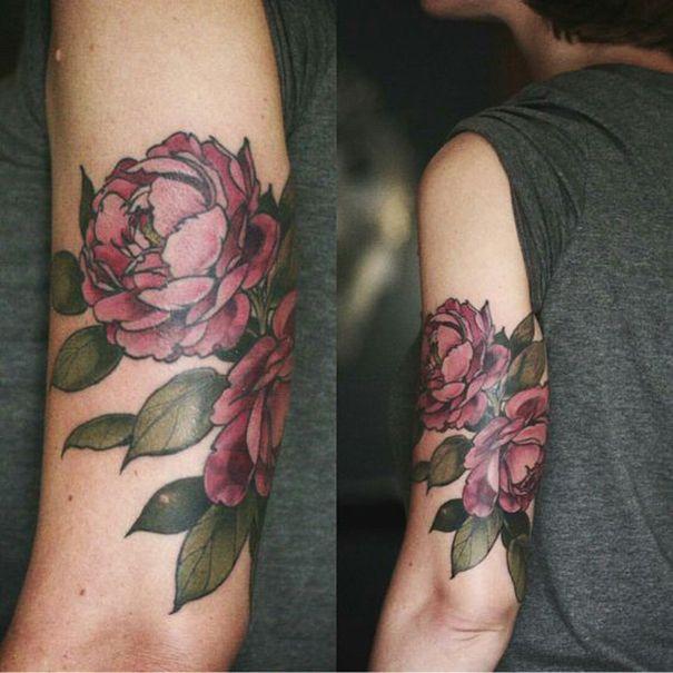 18 besten peony flower tattoo designs bilder auf pinterest. Black Bedroom Furniture Sets. Home Design Ideas