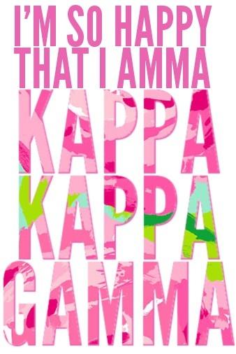 Kappa Kappa Gamma: Delta Gamma, Gamma Sigma, Alpha Gamma, Kappa Kappa, Kappa Memories, Gamma 3, So Happy, Kappa Gamma, Gamma Click