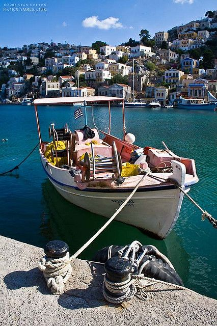 Fishing boat, Symi harbour, Greece