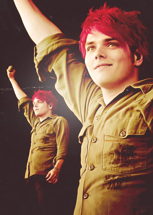 Gerard Way (just so you know, my Mom pinned this first)