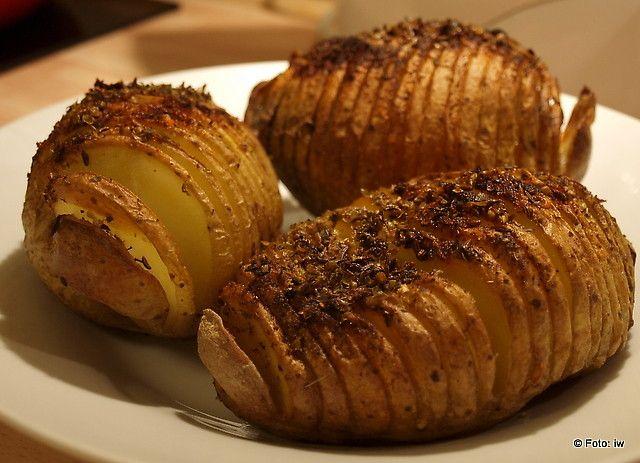 iw-kulinarnie: Wyśmienite pieczone ziemniaki Hasselback, Przepis ...