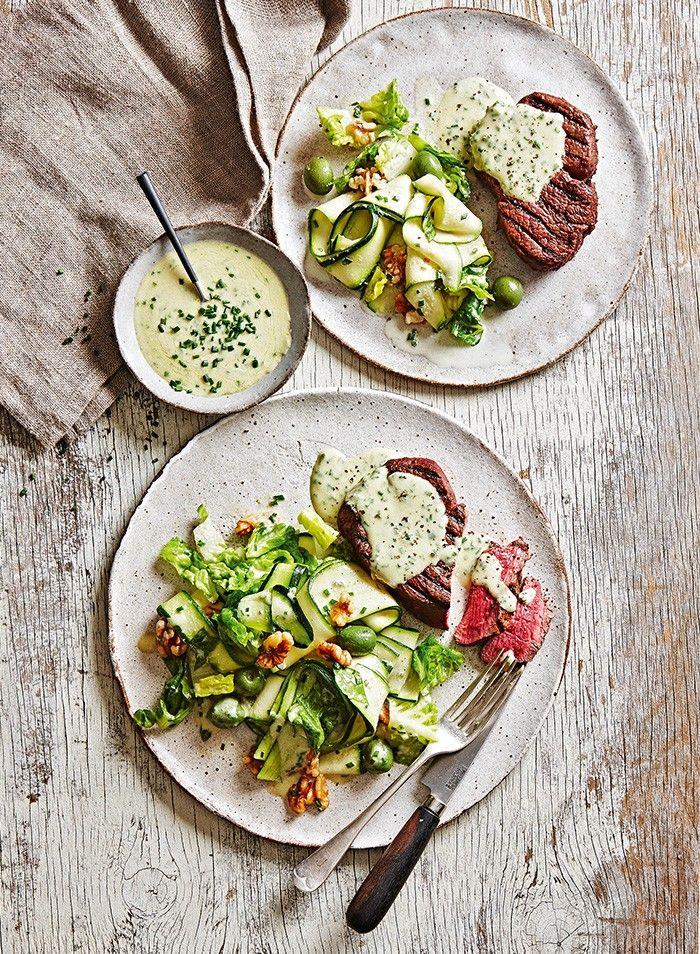 Eye Fillet with Gorgonzola and Zucchini Salad | MiNDFOOD