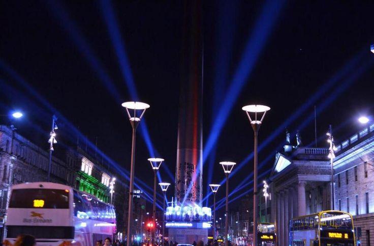 The Spire – all in lights! #GoGreenForStPatricksDay #LightsIRL via @johnrooney12