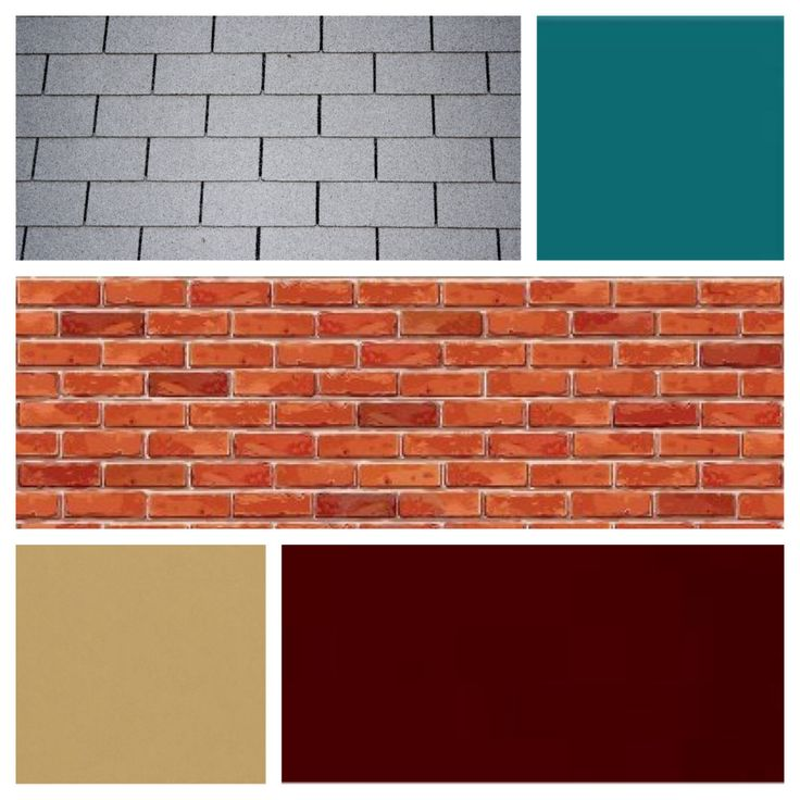 Exterior color scheme for red brick and grey roof ...