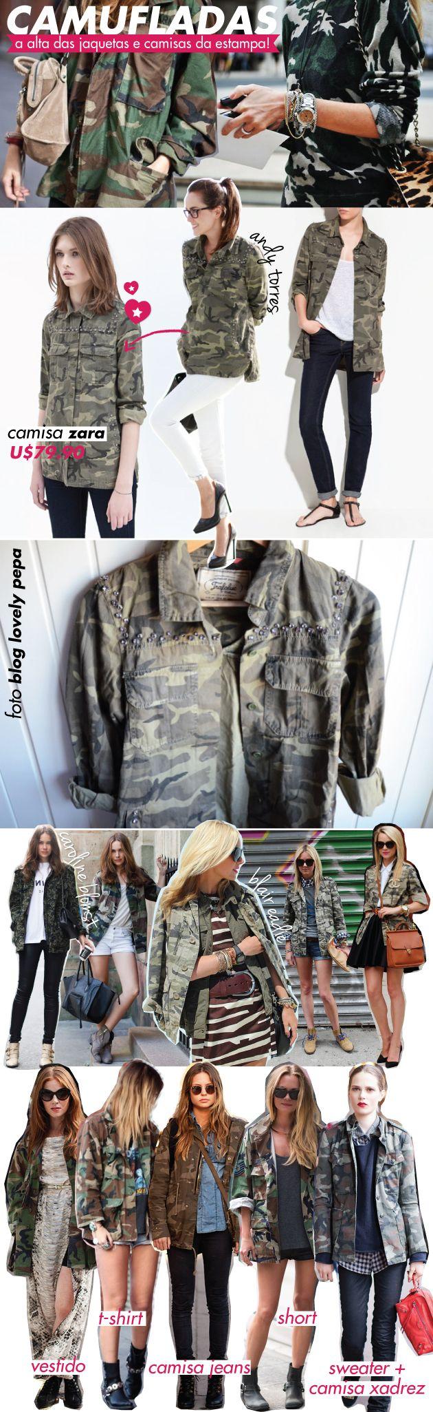 estampa, trend, tendência, camuflagem, camuflada, camo, camouflage, print, zara, andy torres, blogueiras, como usar, dica, onde comprar