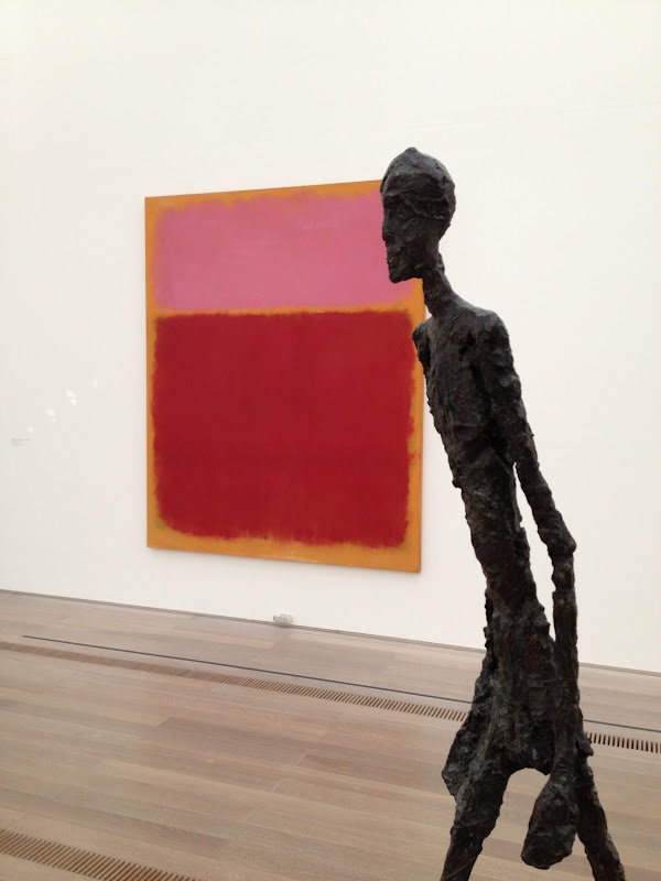 Giacometti overlooking Rothko...
