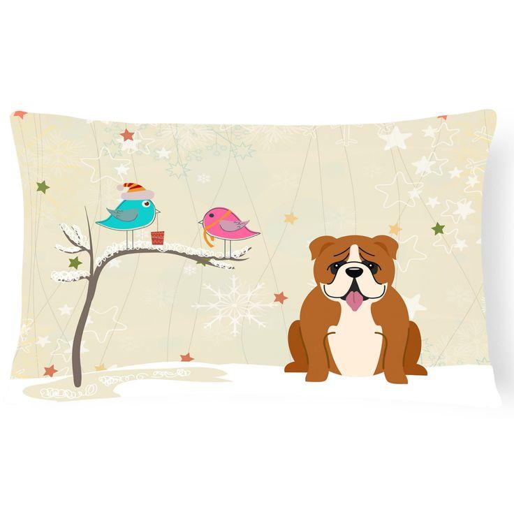 Carolines Treasures Christmas Presents Between Friends English Bulldog Outdoor Pillow - BB2592PW1216