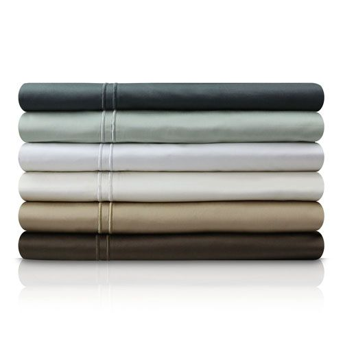 Khaki Three-Piece 600 Thread Count Egyptian Cotton Twin XL Sheet Set - (In No Image Available)