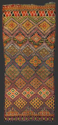 Marmoucha pile carpet, Morocco, circa 1930 - love the colors