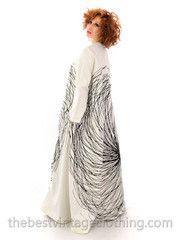 Vintage Vuokko Nurmesniemi A-Line B & W Graphic Gown Cotton 1970s Bust 38 - The Best Vintage Clothing  - 3