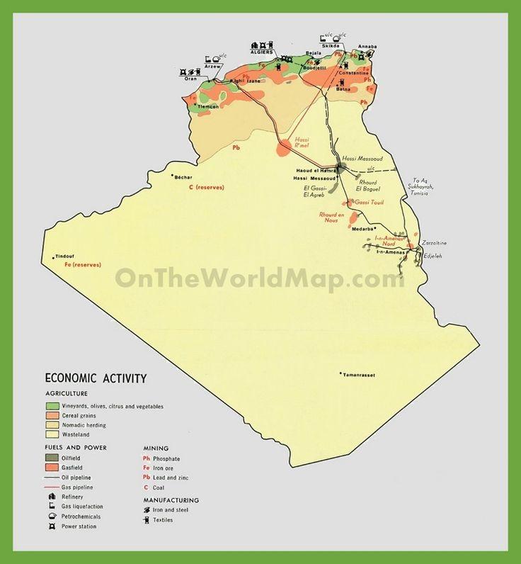 Economic map of Algeria