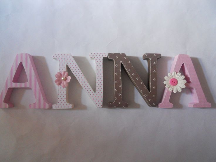 ... wall, initials | Wood Letters, Alphabet and Wooden Letters For Nursery