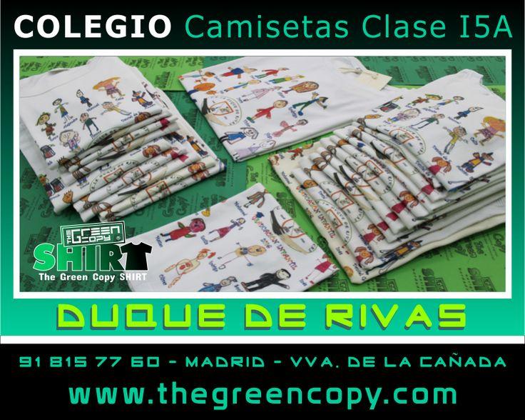 Estampado de Camisetas Personalizadas para Viajes Fin de Curso de Colegios, Universidades y Excursiones en MADRID - Tienda de Serigrafía Textil - Colegio Duque de RIVAS