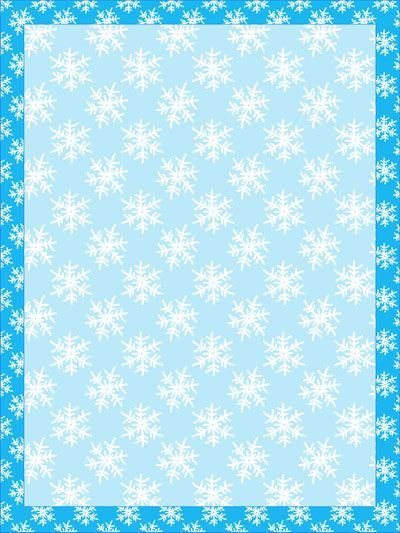 snowflake-stationery-template Stationery Templates Stationery