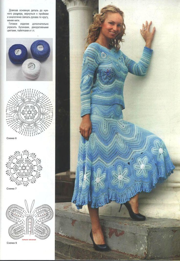 76 best Häkeln Rock / crochet skirt images on Pinterest | Kleidung ...