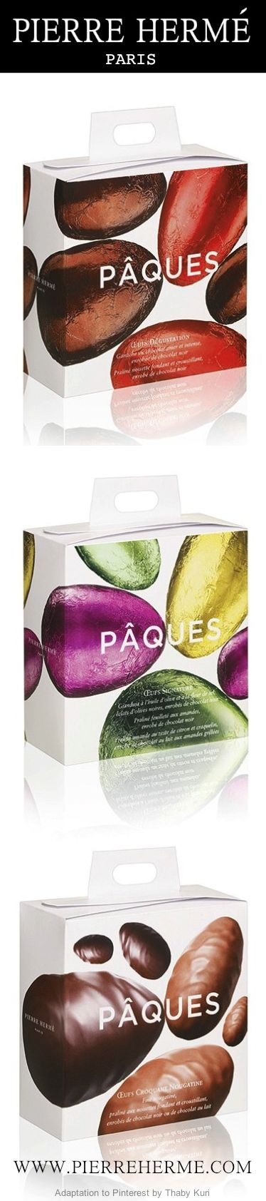 PIERRE HERME Pâques Chocolate Pralines #chocolate #packaging #gourmandises