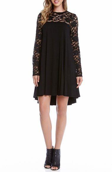 Karen Kane Lace & Jersey Swing Dress