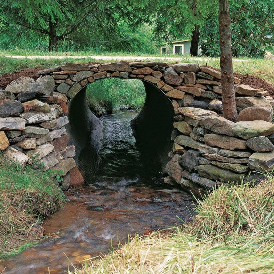 How To Build A Stone Culvert Diy And Crafts Pinterest Wall Building